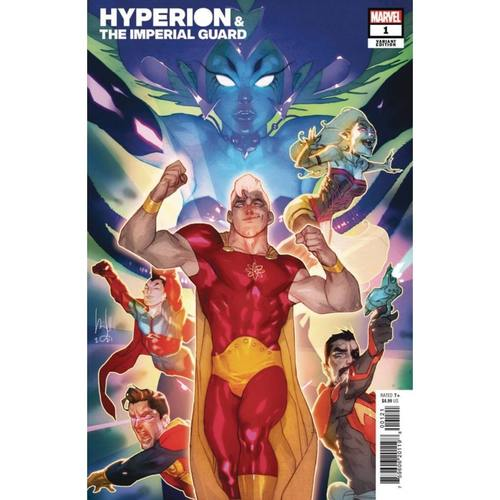 HEROES REBORN HYPERION AND IMPERIAL GUARD #1 CALDWELL VAR