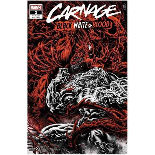 CARNAGE BLACK WHITE AND BLOOD #2 (OF 4) HOTZ VAR