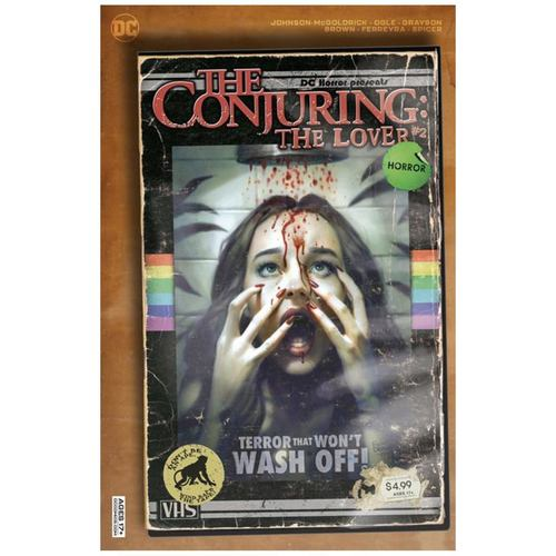 DC HORROR PRESENTS THE CONJURING THE LOVER #2 (OF 5) CVR B RYAN BROWN VHS TRIBUTE CARD STOCK VAR (MR)