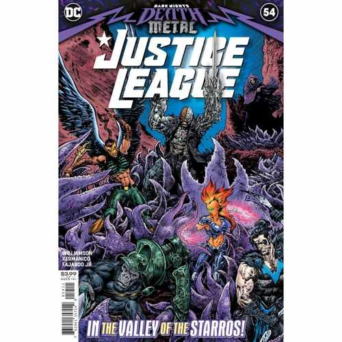 JUSTICE LEAGUE #54 CVR A LIAM SHARP (DARK NIGHTS DEATH METAL)