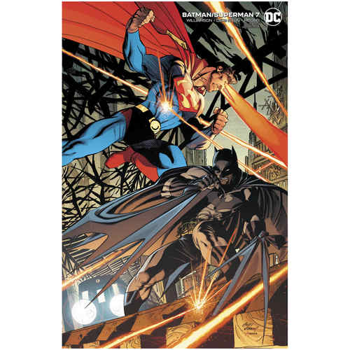 BATMAN SUPERMAN 7 CARD STOCK ANDY KUBERT VAR ED