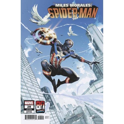 MILES MORALES SPIDER-MAN #28 COELLO CAPTAIN AMERICA 80TH VAR