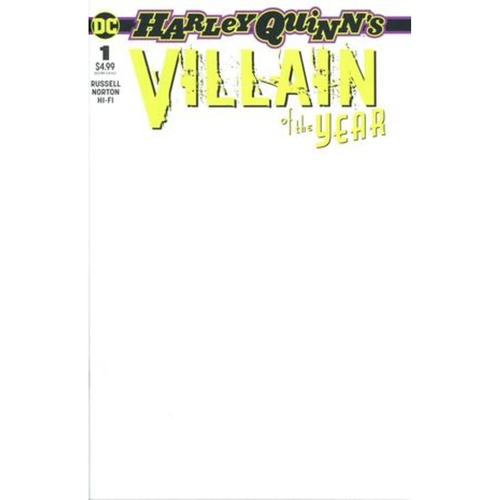 HARLEY QUINN VILLAIN OF THE YEAR 1 BLANK VAR ED