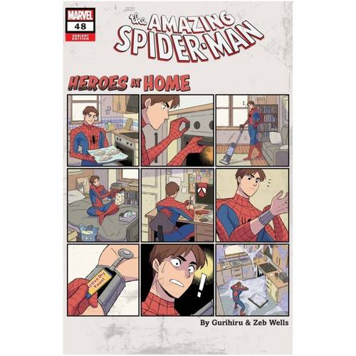 AMAZING SPIDER-MAN #48 GURIHIRU HEROES AT HOME VAR