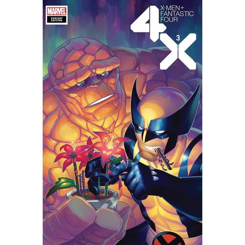 X-MEN FANTASTIC FOUR 3 OF 4 HETRICK FLOWER VAR