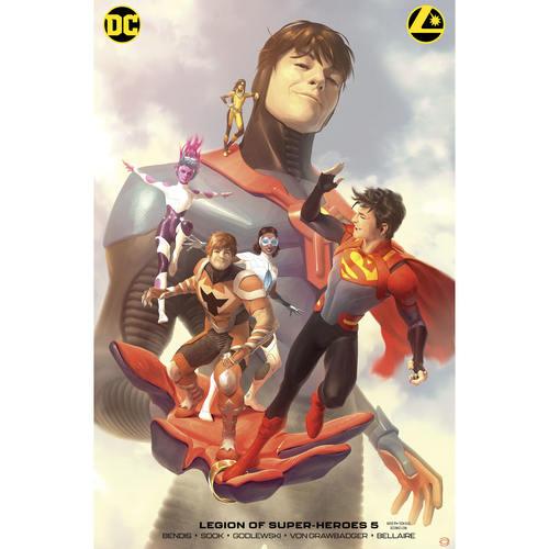 LEGION OF SUPER HEROES 5 CARD STOCK ALEX GARNER VAR ED