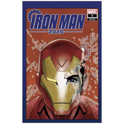 IRON MAN 2020 #5 (OF 6) SUPERLOG HEADS VAR