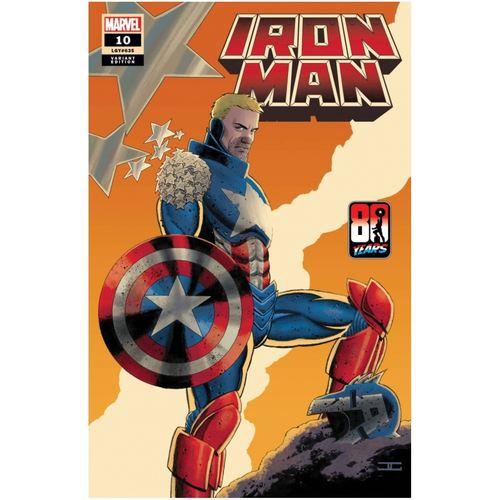 IRON MAN #10 CASSADAY CAPTAIN AMERICA 80TH VAR
