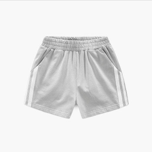 Childrens Cotton Sports Shorts Grey