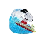 Jigsaw Puzzle Play N Learn 3D Crystal Puzzle Snoopy Surfing Gift