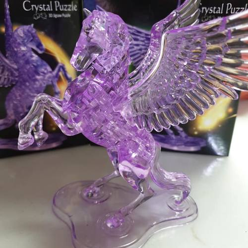 Jigsaw Puzzle Play N Learn 3D Crystal Puzzle Flying Horse