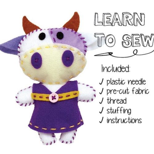 Play N Learn Art & Craft Cow Sewing Kit