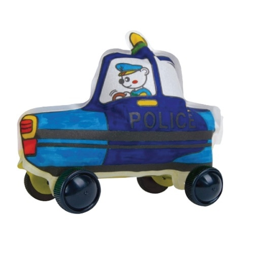 Play N Learn Colorloon  3D Vehicle DIY Kit - Police Car  10 PCS
