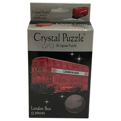 Jigsaw Puzzle Play N Learn 3D Crystal Puzzle London Bus