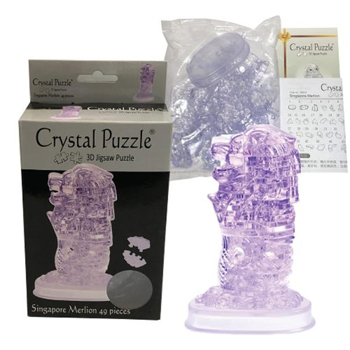 3D Crystal Puzzle Clear Singapore Merlion