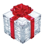 Jigsaw Puzzle Play N Learn 3D Crystal Puzzle Gift Box with Red Ribbon