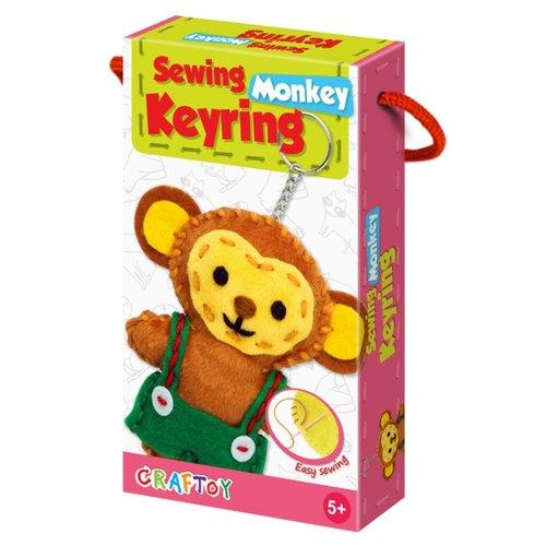 Monkey Sewing Keyring
