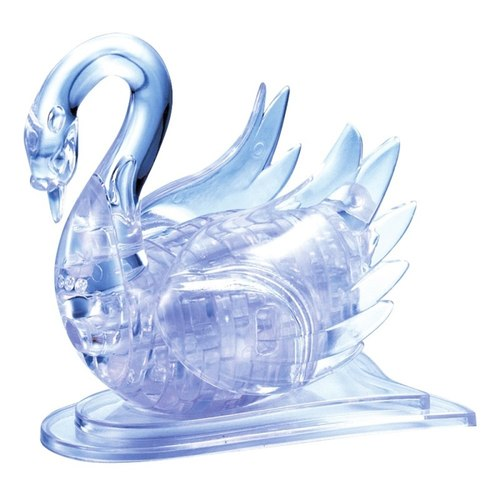 Jigsaw Puzzle Play N Learn 3D Crystal Puzzle Clear Swan