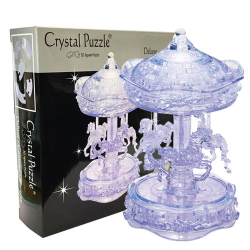 Carousel Clear Deluxe 3D Crystal puzzle