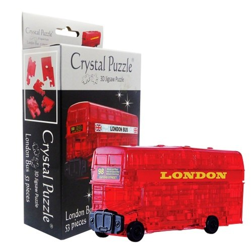 London Bus 3D Crystal Puzzle