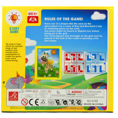 Play N Learn L Shape Matching Strategic Family Board Game