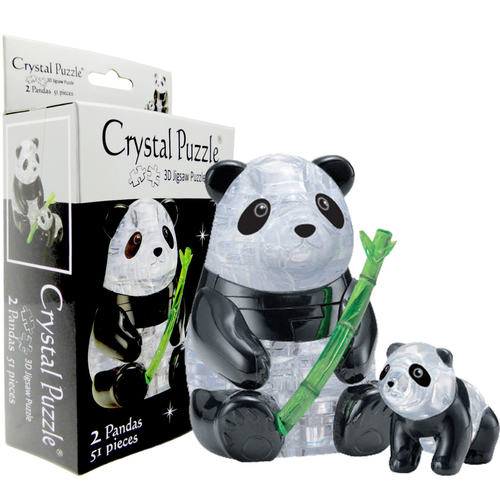 Panda & Baby 3D Crystal Puzzle