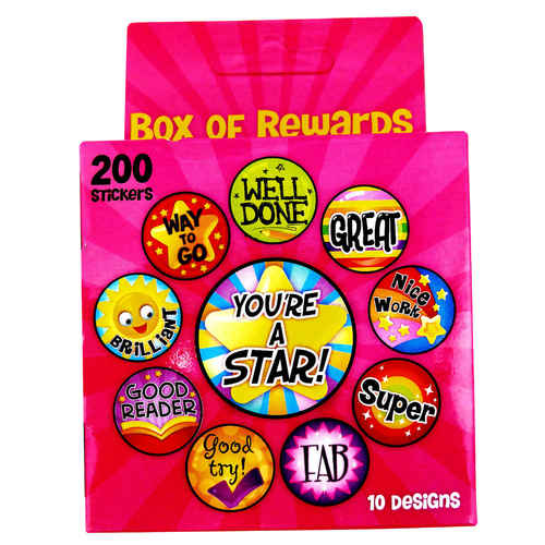 Play N Learn Reward and Motivation Sticker in Pink Box