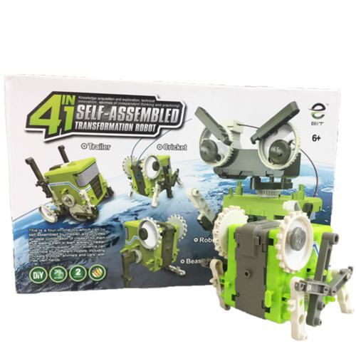 4 in 1 Self-Assembled Transformation Robot