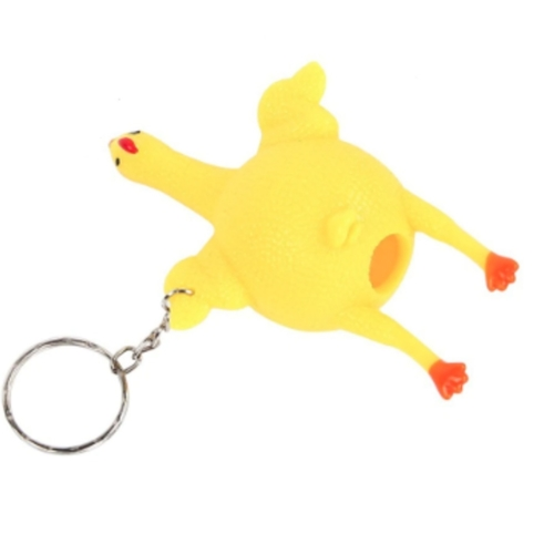 Party Novelty Keyring Squishy Chicken with Egg Toy For Kids