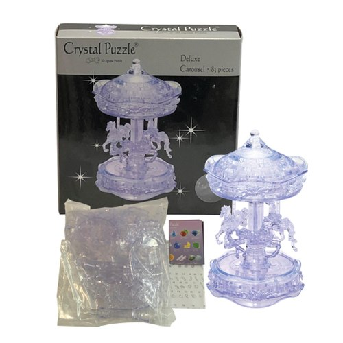 3D Crystal puzzle Clear Carousel