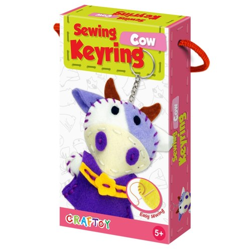 Cow Sewing Keyring