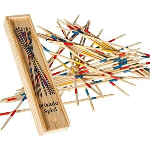 Educational Wooden Traditional Mikado Spiel Game Play N Learn  Wooden pick up stick game