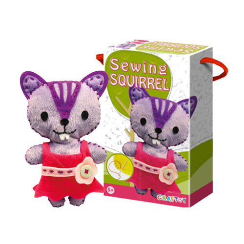 Squirrel DIY Sewing Kit