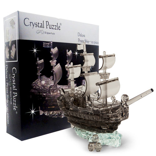Pirate Ship Black Challenging 3D Crystal Puzzle