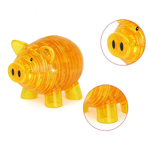 Pig Gold  Challenging 3D Crystal Puzzle