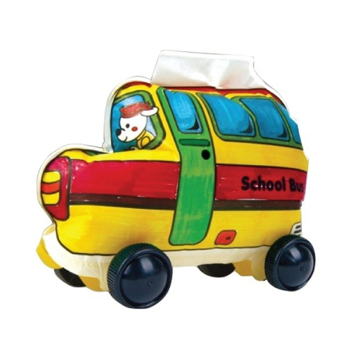 Play N Learn Colorloon  3D Vehicle DIY Kit - School Bus  10 PCS