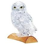 Jigsaw Puzzle Play N Learn 3D Crystal Puzzle Clear Owl
