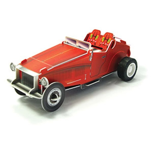 Play N Learn Science Toy 3D Wind-Up Puzzle Classic Car AF2300