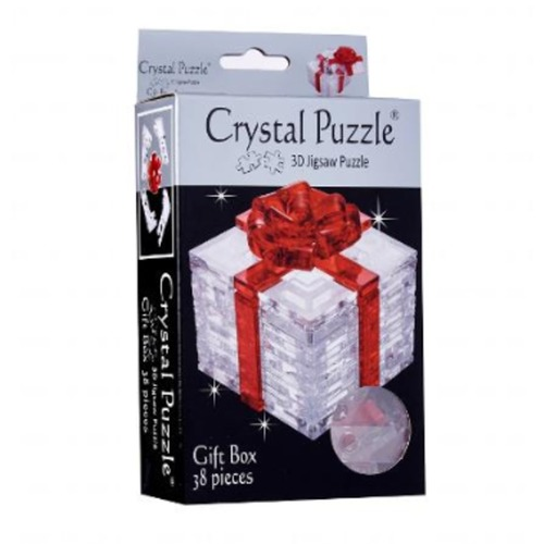 Gift Box Red 3D Crystal Puzzle