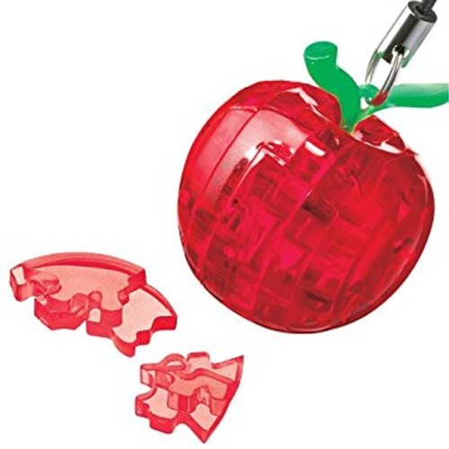Mini Apple Red 3D Crystal puzzle