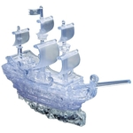 3D Crystal Puzzle Clear Pirate Ship