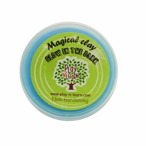 Play N Learn Blue Glow In The Dark Magical Clay