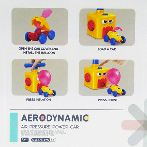 STEM Air Pressure Power Air Pump Toy Balloon Car for Young Kids