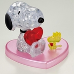 Jigsaw Puzzle Play N Learn 3D Crystal Puzzle Snoopy Hugs Heart Valentine Gift