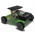 Science Self Assembly Dual Powered Solar and Battery Powered Car Experiment Toy Teaching Resource for Kids