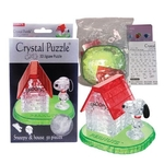 Jigsaw Puzzle Play N Learn 3D Crystal Puzzle  Snoopy With House