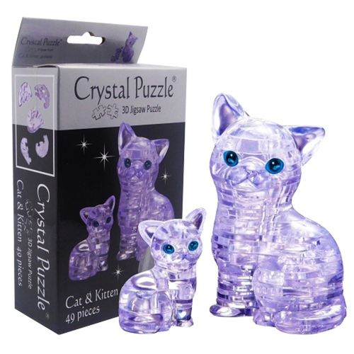 Clear Cat 3D Crystal Puzzle
