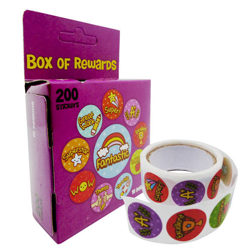 Play N Learn Reward and Motivational Stickers in Purple Box