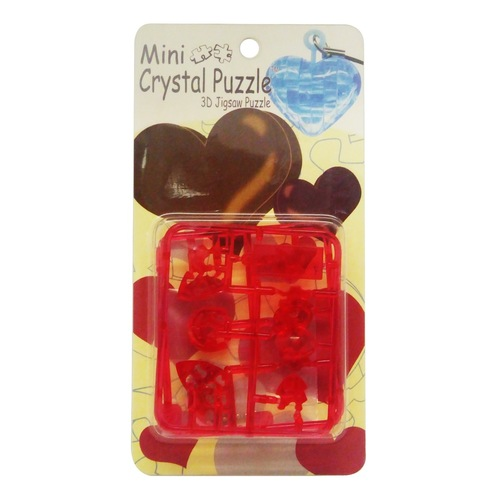 Mini Hear Red 3D Crystal Puzzle