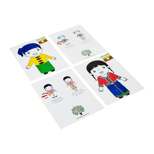 Play N Learn Craft Picture Card Myanmar Couple